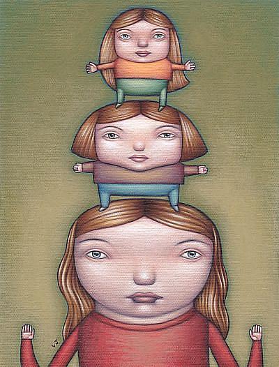 Art: Girl Tower by Artist Valerie Jeanne
