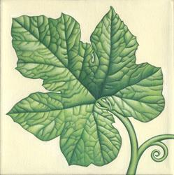 Art: Pumpkin Leaf by Artist Valerie Jeanne