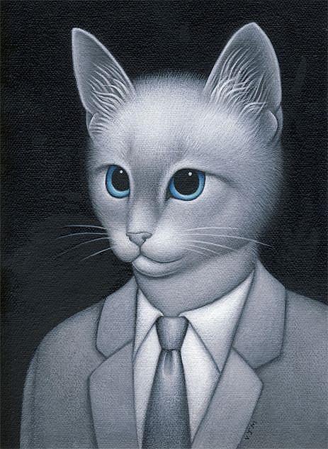 Art: Smokey by Artist Valerie Jeanne