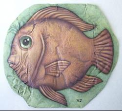 Art: Russet Fish by Artist Valerie Jeanne