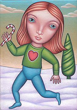 Art: Carol by Artist Valerie Jeanne