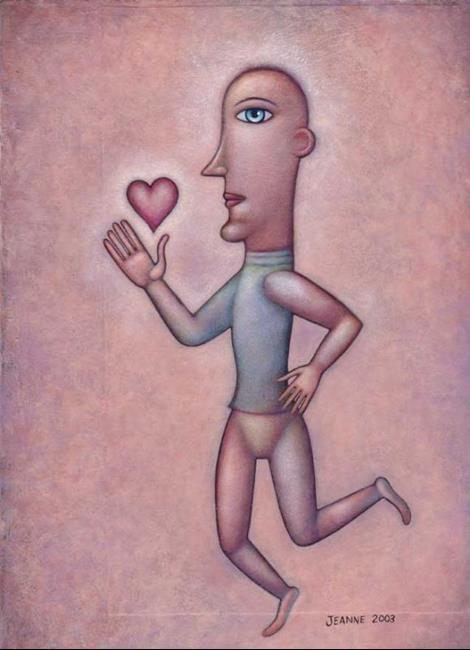 Art: Follow Your Heart by Artist Valerie Jeanne