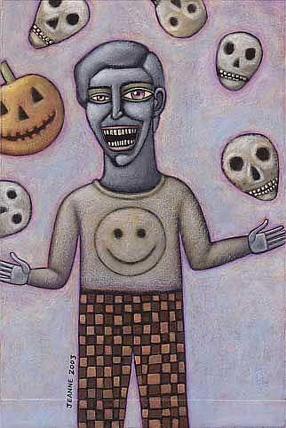 Art: Zombie Juggler by Artist Valerie Jeanne
