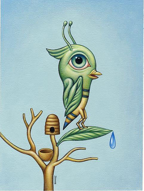 Art: plight of the bumblebird by Artist Valerie Jeanne