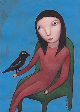 Art: Bird Day by Artist Valerie Jeanne