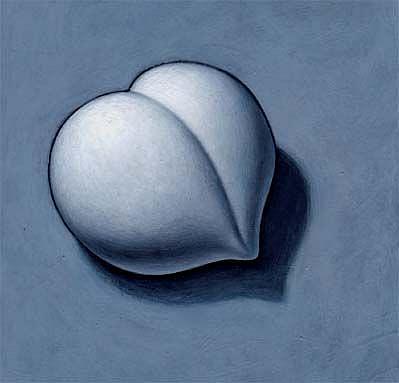 Art: Gray Nectarine by Artist Valerie Jeanne