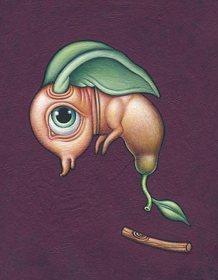 Art: Lil' Green Ears by Artist Valerie Jeanne