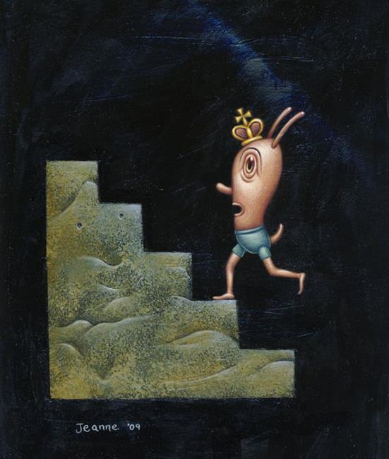 Art: Climbing by Artist Valerie Jeanne