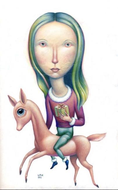 Art: Christmas 2011 by Artist Valerie Jeanne