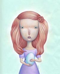 Art: Robin's Egg by Artist Valerie Jeanne