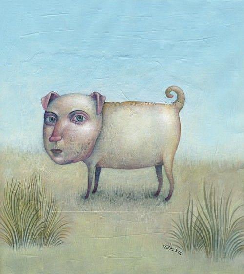Art: In A Field by Artist Valerie Jeanne