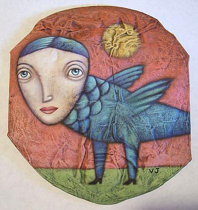 Art: Bird Girl  by Artist Valerie Jeanne