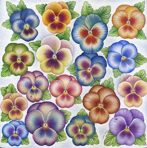 Art: Pansies by Artist Valerie Jeanne