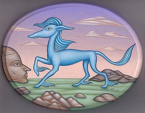Art: Blue Magic by Artist Valerie Jeanne