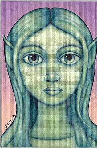 Art: Green Fairy by Artist Valerie Jeanne