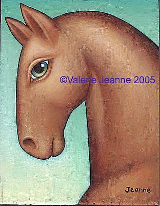Art: Horse Head by Artist Valerie Jeanne