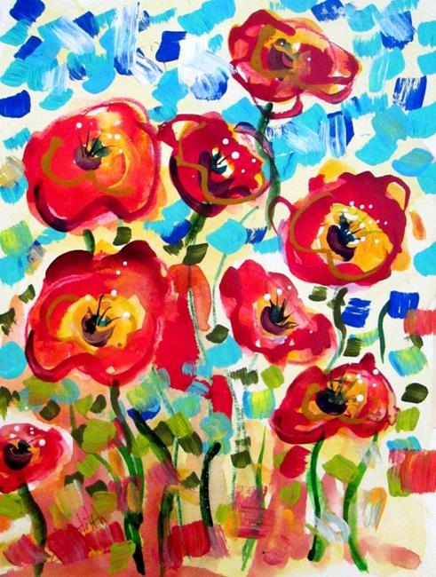 Art: Hot Poppies by Artist Delilah Smith