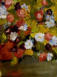 Art: Pot of Flowers by Artist Delilah Smith