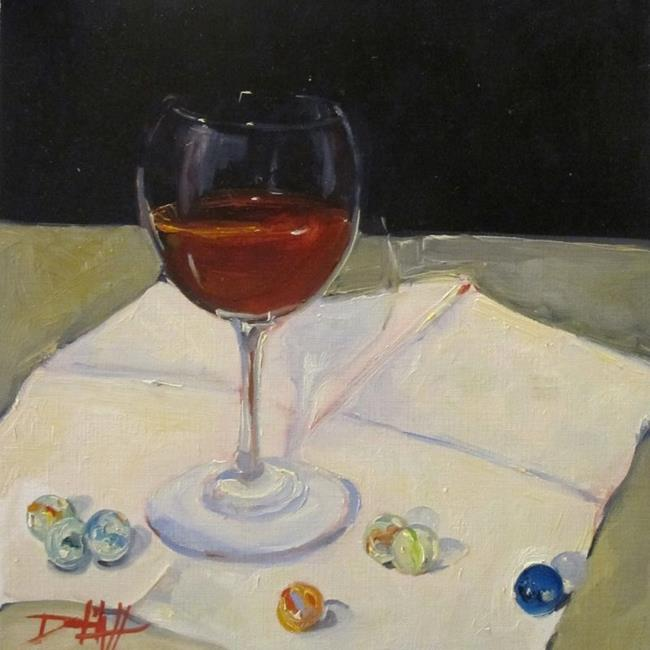 Art: Wine and Marbels by Artist Delilah Smith