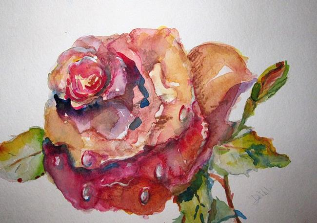 Art: Pink Rose No.2 by Artist Delilah Smith