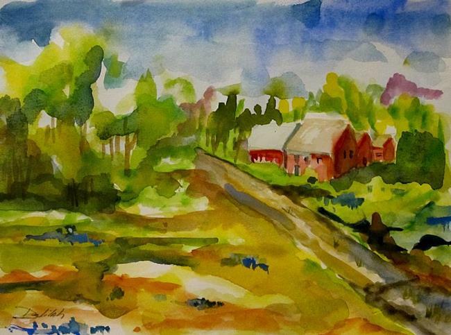 Art: Blue Bonnet Landscape by Artist Delilah Smith