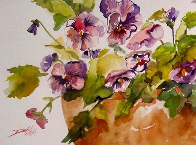 Art: Precious Pansies by Artist Delilah Smith