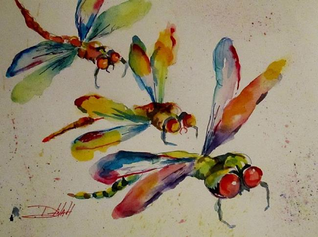 Art: Dragonflies-SOLD by Artist Delilah Smith