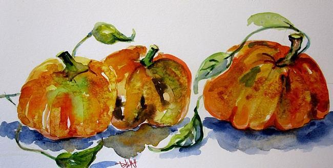 Art: Pumpkin Still Life by Artist Delilah Smith