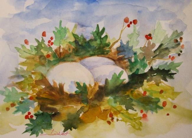 Art: Holly Nest by Artist Delilah Smith