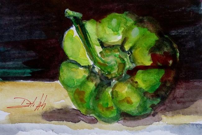 Art: Green Pepper Still Life by Artist Delilah Smith