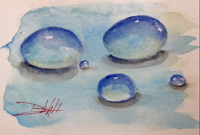 Art: Water Droplets by Artist Delilah Smith