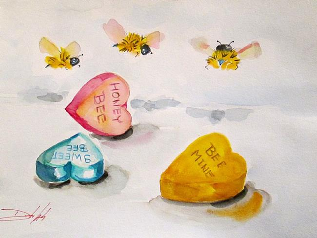 Art: Bee My Valentine by Artist Delilah Smith