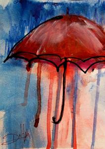 Detail Image for art Red Umbrella