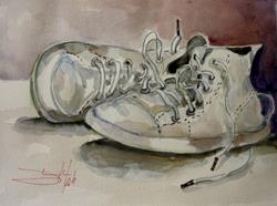 Art: Tennis Shoes by Artist Delilah Smith