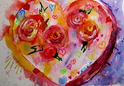 Art: Graffiti Heart by Artist Delilah Smith