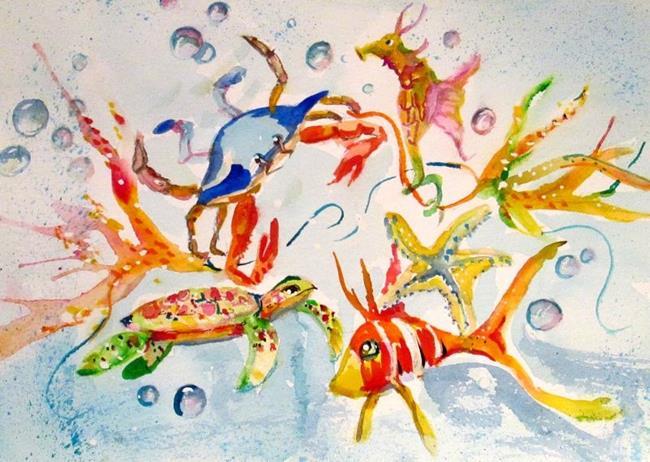 Art: Sea Life by Artist Delilah Smith