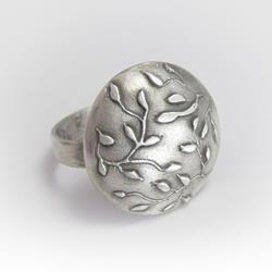 Art: Leaf Ring by Artist Andree Chenier