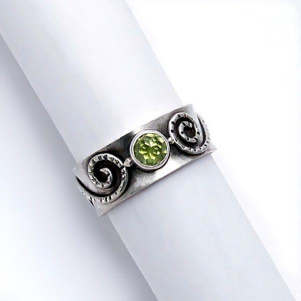 Art: Peridot Ring by Artist Andree Chenier