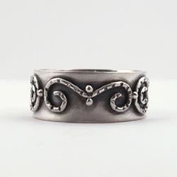 Art: Silver Filigree Band Ring by Artist Andree Chenier