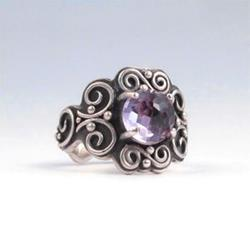 Art: Filigree Ring with Amethyst by Artist Andree Chenier