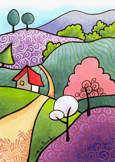 Art: Country road by Artist Sandra Willard