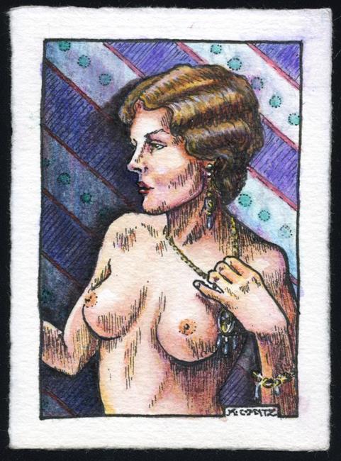Art: Vintage Nude 13 by Artist Madeline  Carol Matz