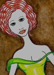 Art: Minor Wardrobe Malfunction by Artist Sherry Key