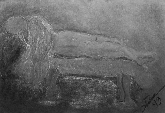 Art: Sleeping Beauty in Grey by Artist Shari Lynn Schmidt
