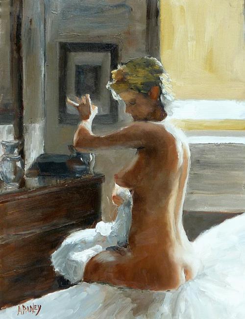 Art: After her Bath by Artist Ann Radley