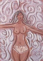 Art: Cross-My-Legs-and-Hope-to.jpg by Artist Sherry Key