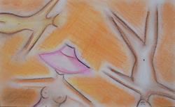 Art: 3 Bellybuttons by Artist Sherry Key