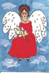 Art: Frida is an Angel in the Sky by Nancy Denommee