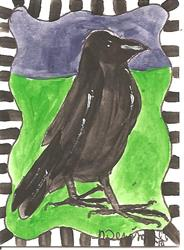 Art: Behaving Raven by Artist Nancy Denommee