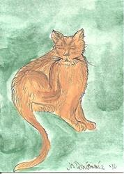 Art: Kitty Has a Scratch by Artist Nancy Denommee